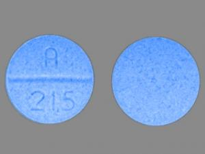 A 215 Pill Images (Blue / Round)