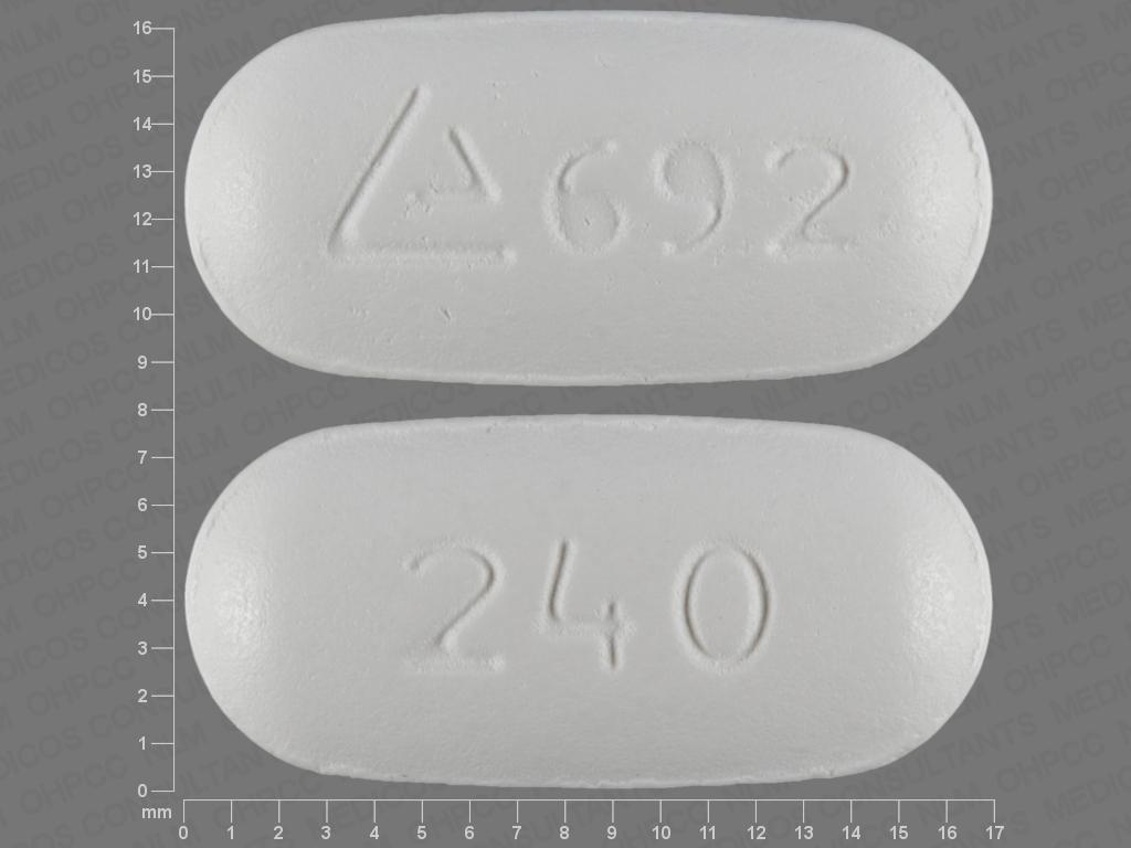 Logo 692 240 Pill Images (White / Capsule-shape)