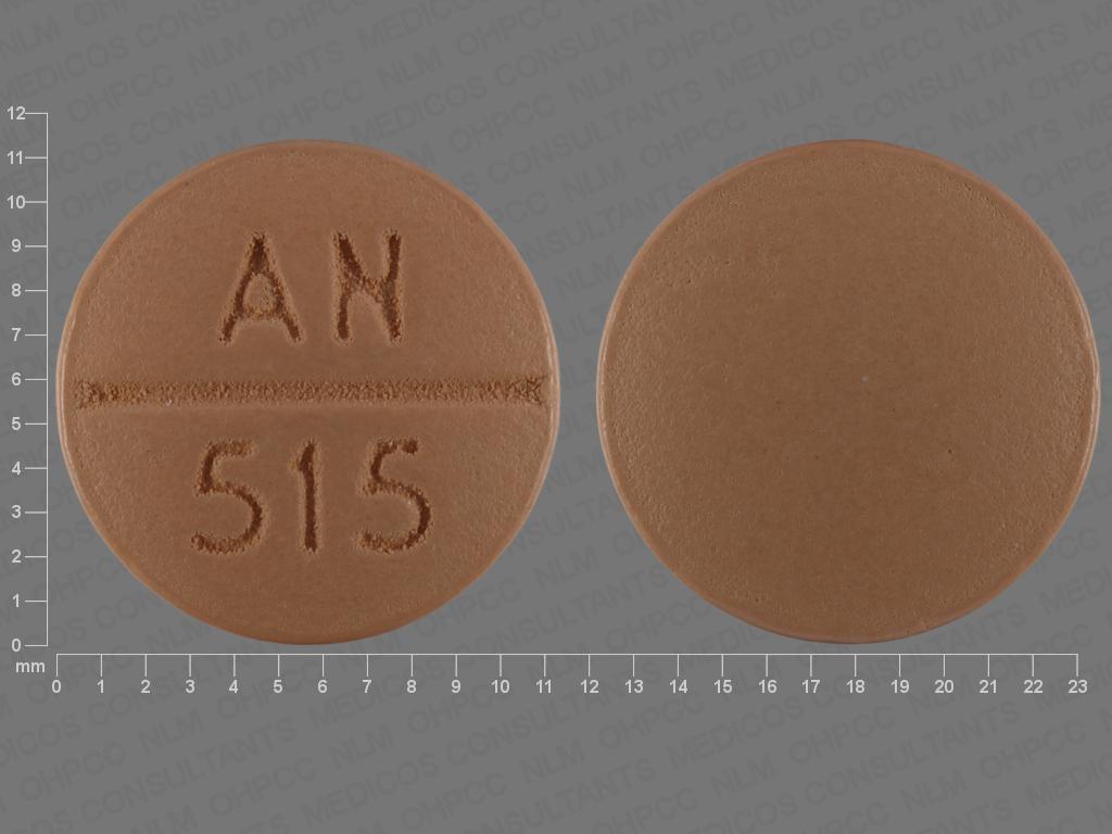 AN 515 Pill Images (Beige / Round)