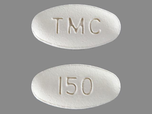 TMC 150 Pill Images (White / Elliptical / Oval)