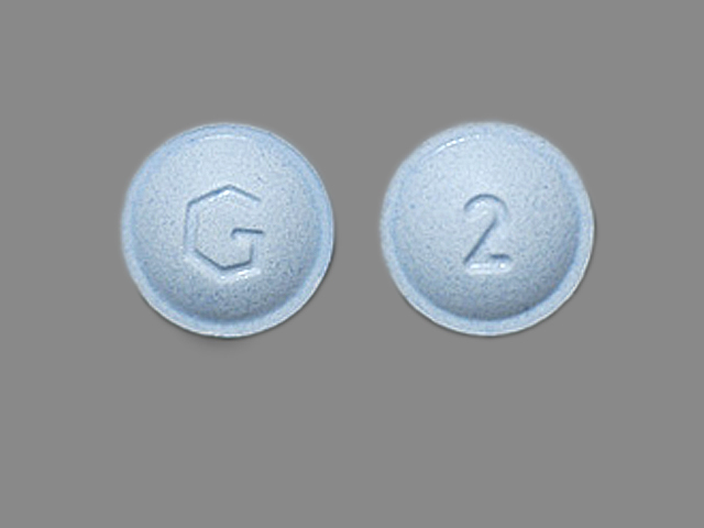 G 2 Pill Images (Blue / Round)