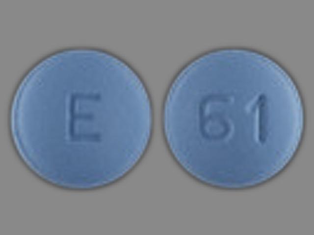 E 61 Pill Images (Blue / Round)