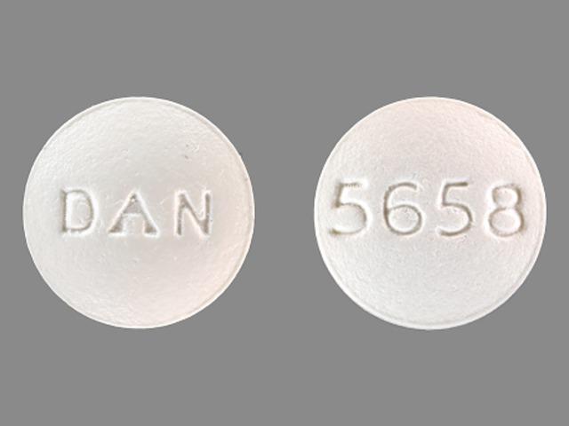 DAN 5658 Pill Images (White / Round)