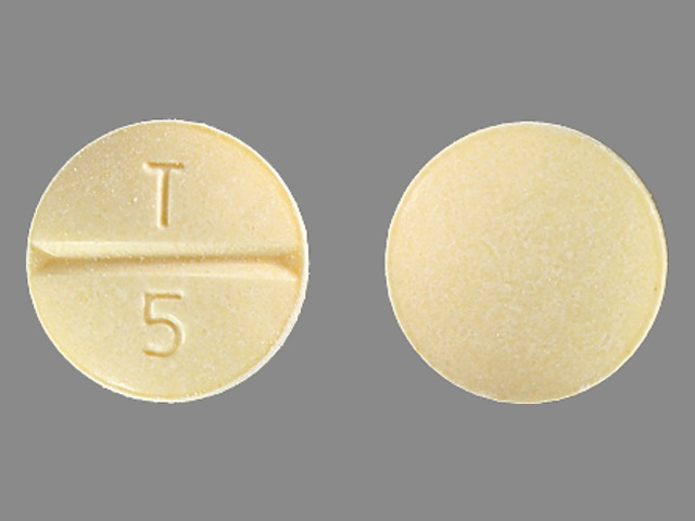 T 5 Pill Images (Yellow / Round)