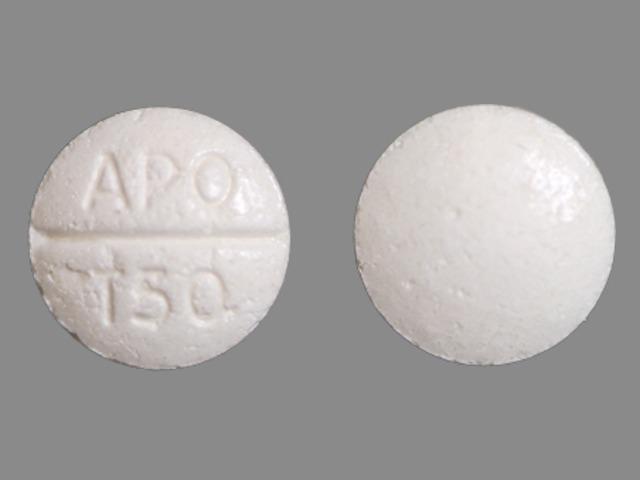 APO T50 Pill Images (White / Round)