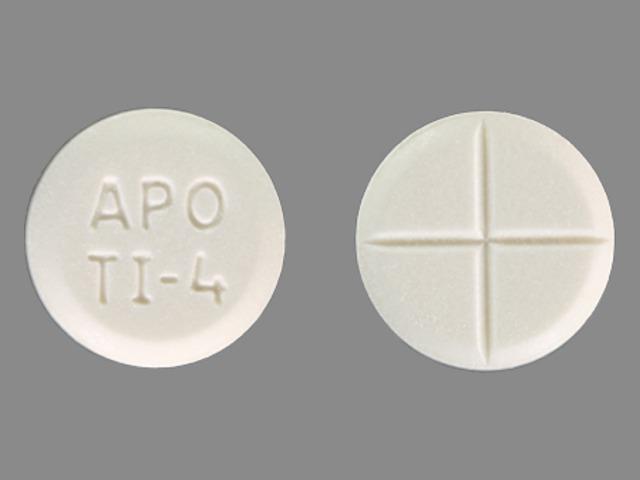 APO TI-4 Pill Images (White / Round)