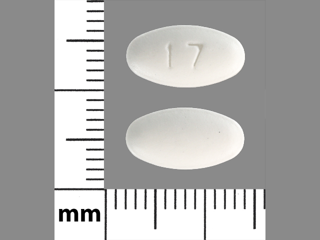 17 Pill Images (White / Elliptical / Oval)