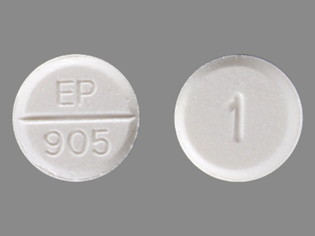 EP 905 1 Pill Images (White / Round)