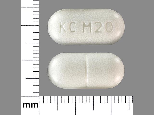 KC M20 Pill Images (White / Elliptical / Oval)