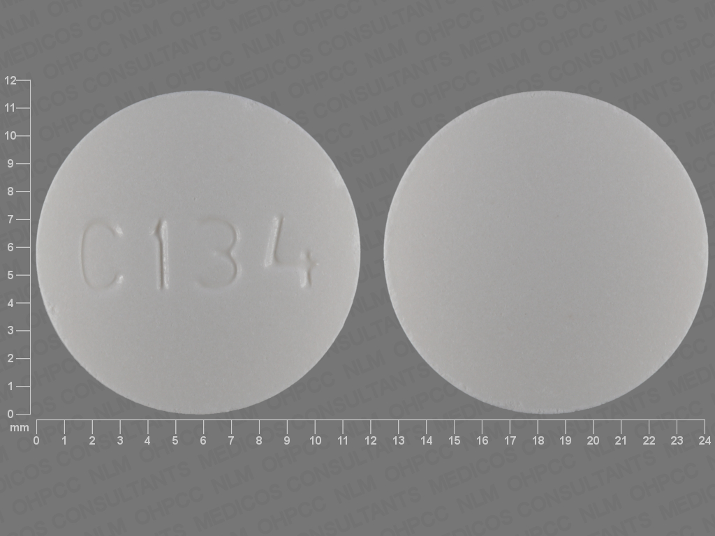134 White And Round - Pill Identification Wizard   Drugs.com