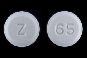 Z 65 Pill Images (White / Round)