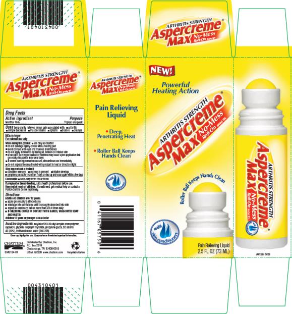 Aspercreme Max No Mess Roll On (liquid) Chattem Inc.
