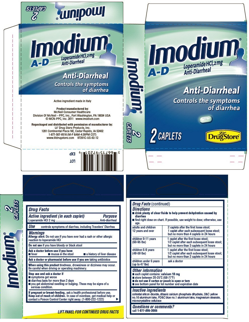 Imodium AD (tablet coated) Lil' Drug Store Products Inc.
