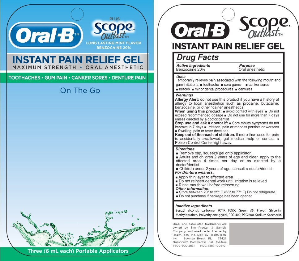 Oral B Instant Pain Relief (gel) Health-Tech Inc.