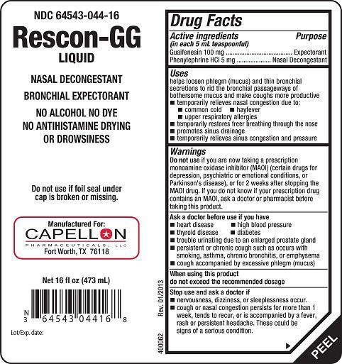 Rescon GG (liquid) Capellon Pharmaceuticals, LLC