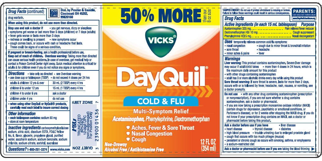 Vicks DayQuil Cold and Flu Multi-Symptom Relief (liquid ...
