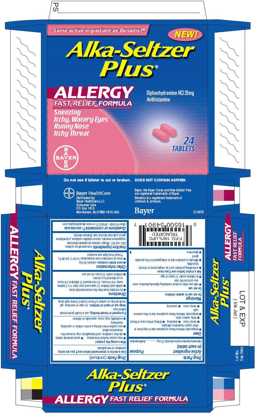 Alka-Seltzer Plus Allergy (tablet) Bayer HealthCare LLC, Consumer Care
