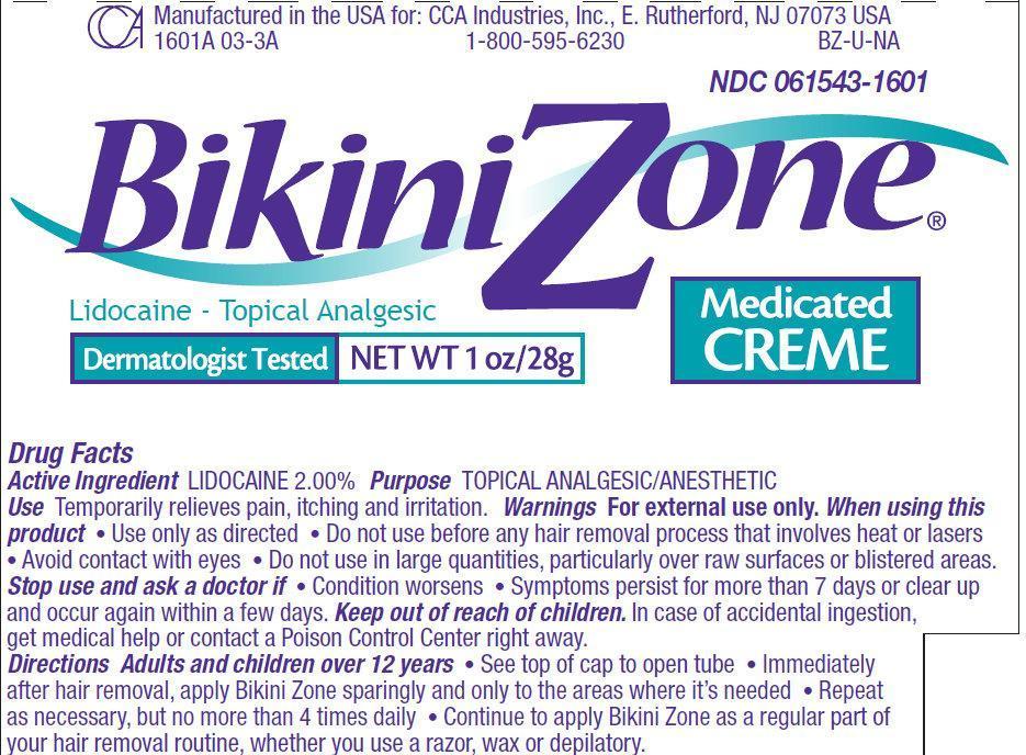 Bikini Zone Medicated CREME (cream) CCA Industries Inc.