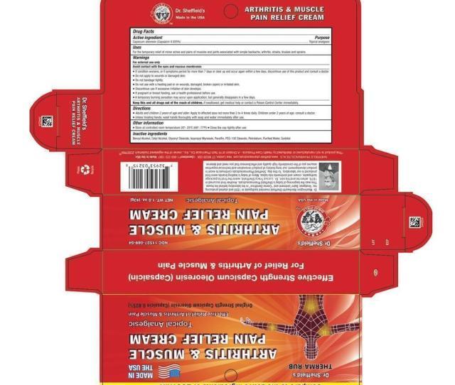 Arthritis Muscle Pain Relief Cream Topical Analgesic Net Wt  G
