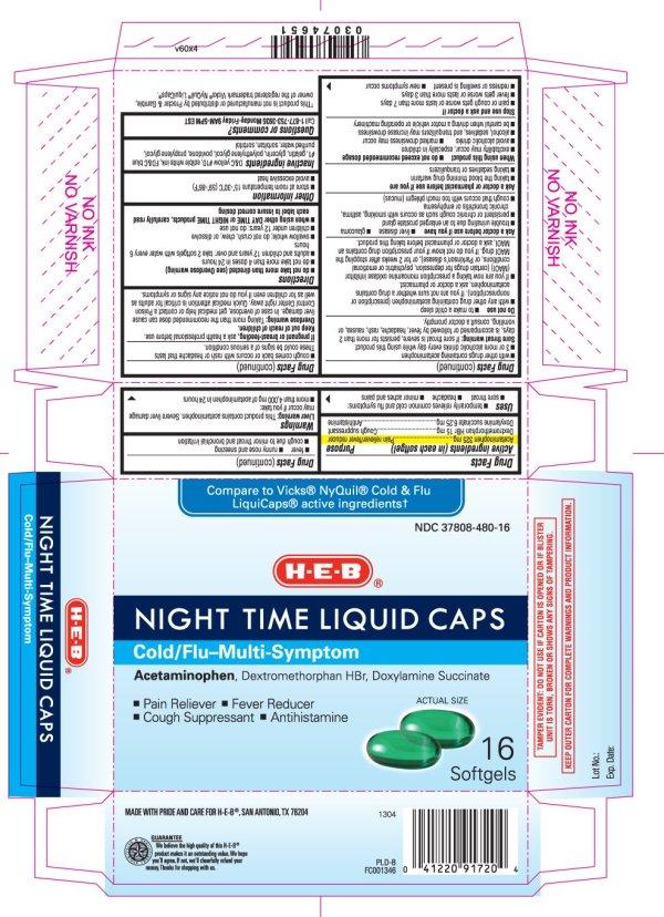 Night Time Liquid Caps Cold Flu Multi symptom capsule