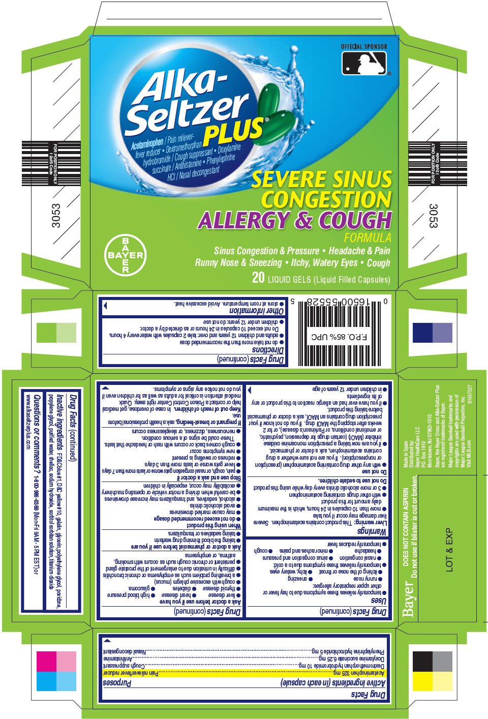 Alka-Seltzer Plus Severe Sinus Congestion Allergy and ...