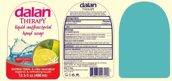 Dalan Therapy ANTIBACTERIAL and odor neutralizer liquid