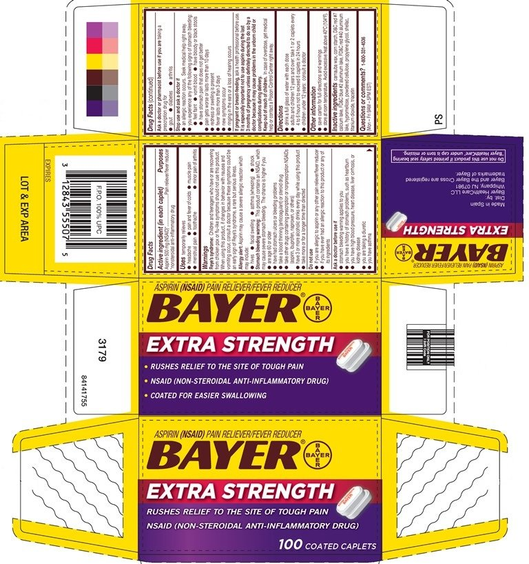 BAYER Aspirin Extra Strength Caplets (tablet) Bayer ...