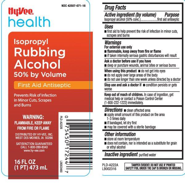 Isopropyl Rubbing Alcohol 50 percent (liquid) Hy-Vee