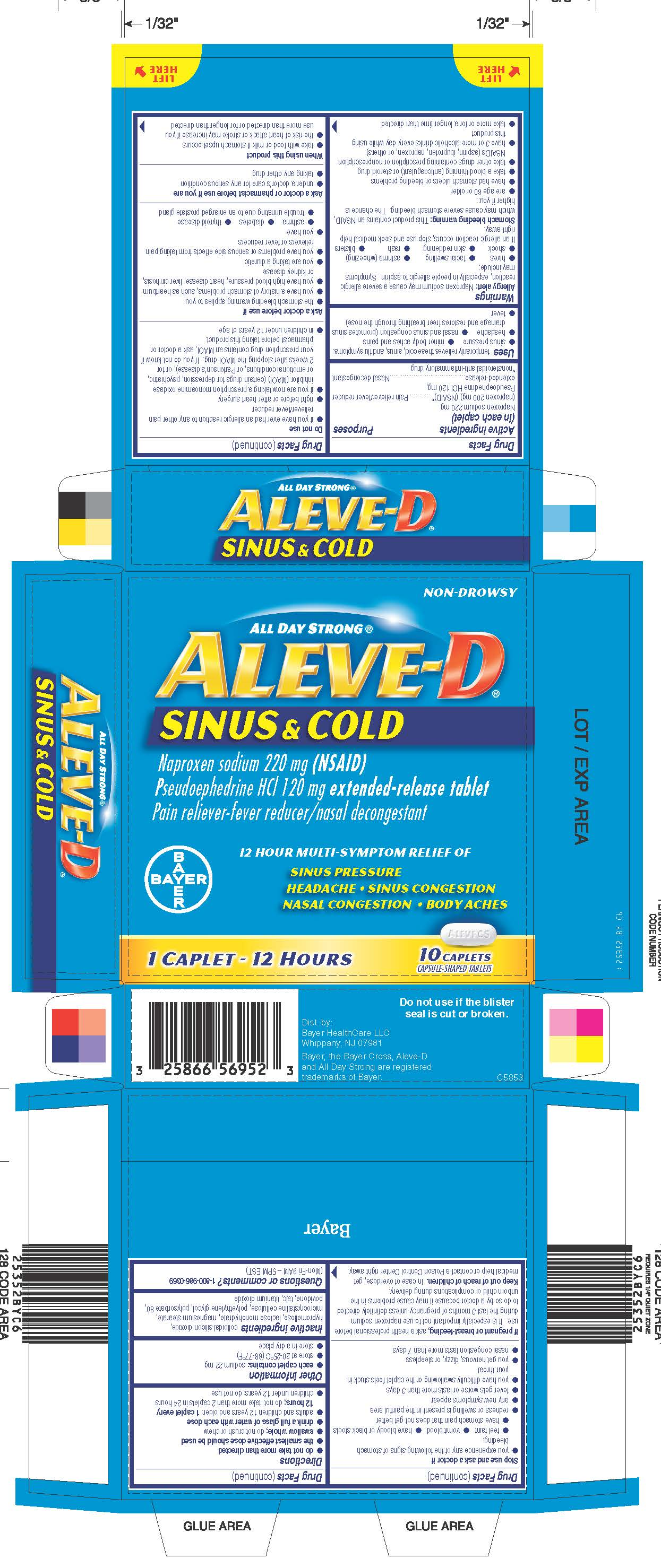 Aleve-D Sinus and Cold (tablet) Bayer HealthCare LLC.