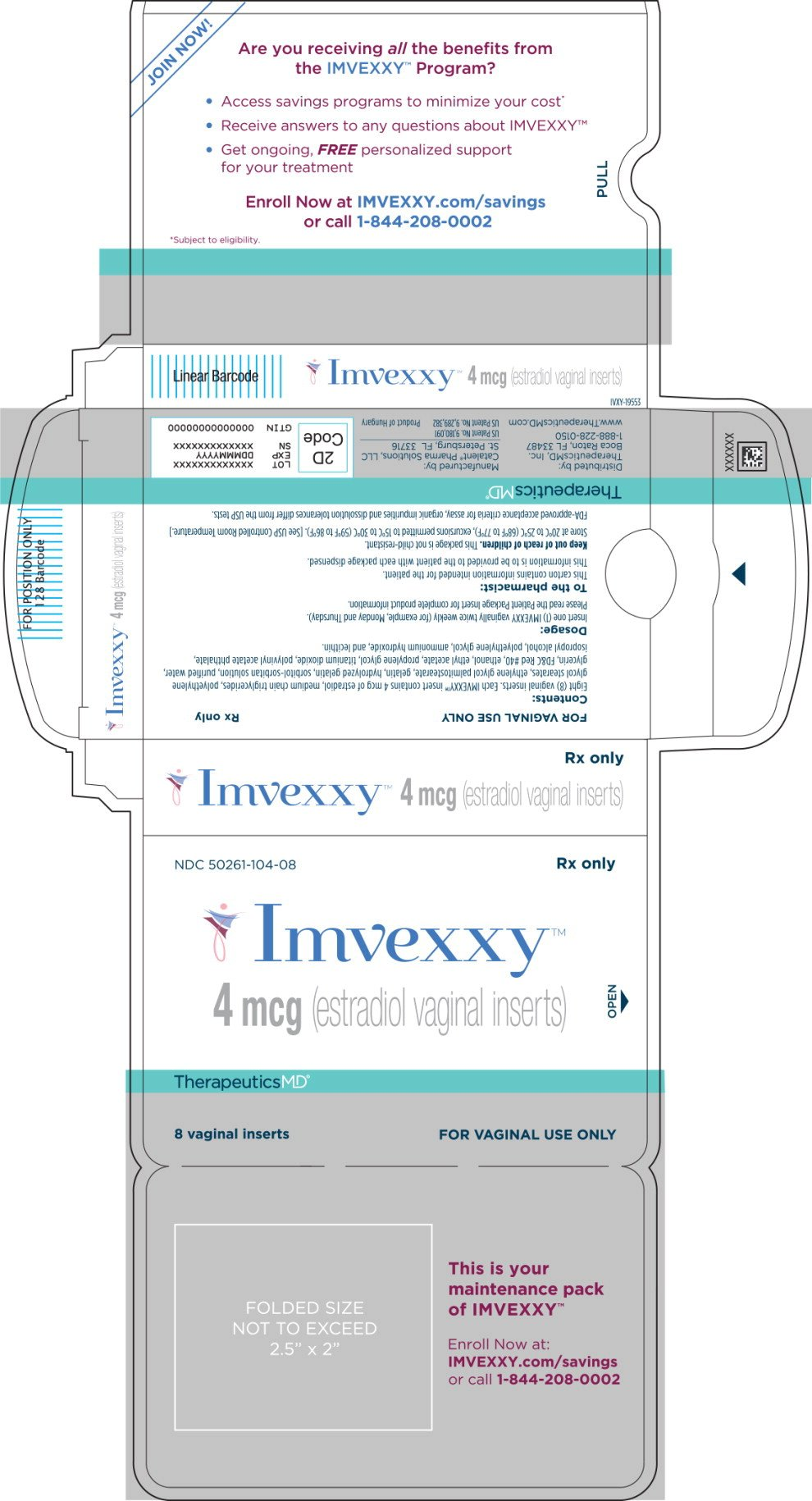 Imvexxy - FDA prescribing information side effects and uses