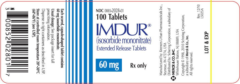 Imdur FDA Prescribing Information Side Effects And Uses