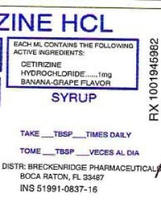 Principal display panel ml bottle label also cetirizine fda prescribing information side effects and uses rh drugs