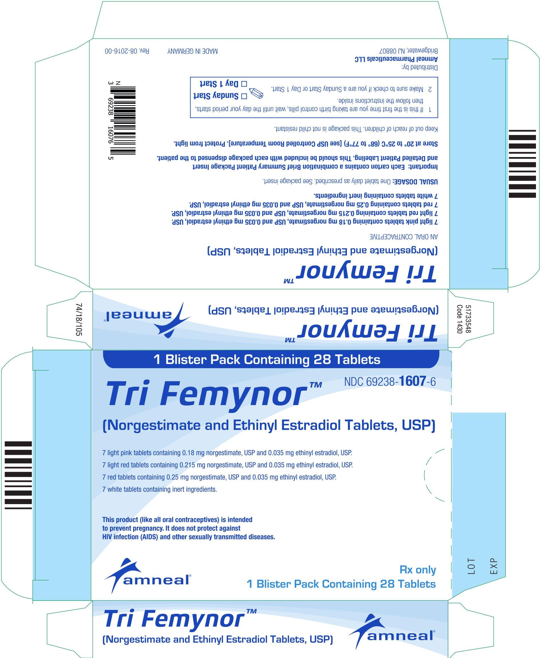 Tri Femynor - FDA prescribing information side effects ...