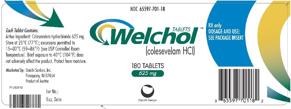Welchol - FDA prescribing information side effects and uses