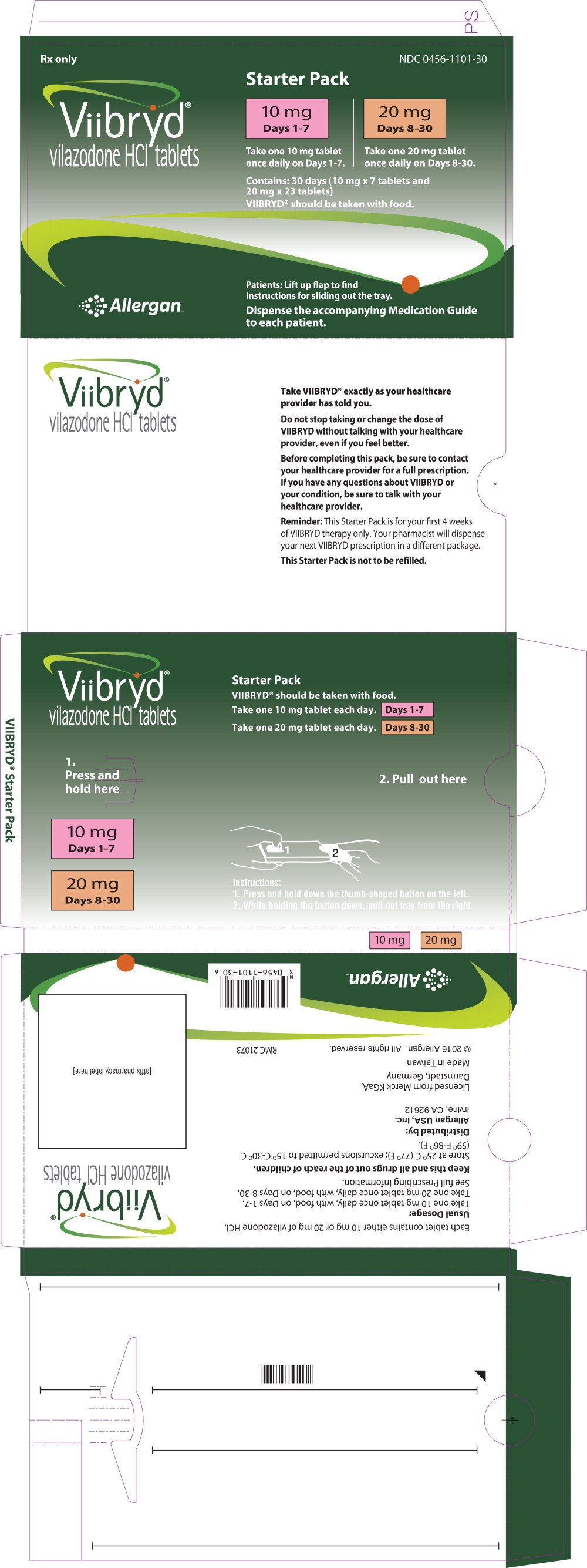 Viibryd - FDA prescribing information side effects and uses
