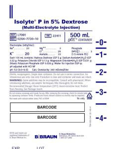 Isolyte  in dextrose sodium acetate potassium chloride magnesium and phosphate dibasic injection solution also fda prescribing information side effects rh drugs