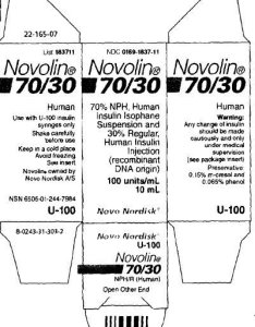Principal display panel ml vial also novolin fda prescribing information side effects and uses rh drugs