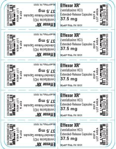Principal display panel mg capsule blister pack effexor xr also fda prescribing information side effects and uses rh drugs