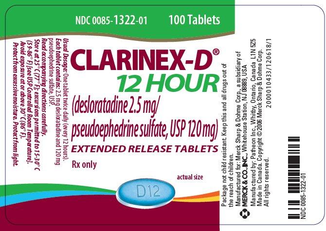 Clarinex-D 12 Hour - FDA prescribing information side ...
