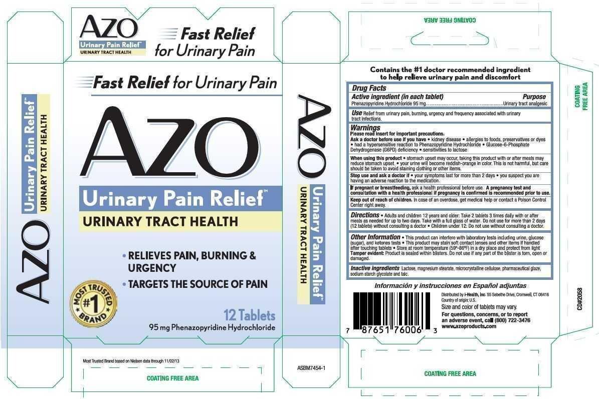AZO Urinary Tract Health - FDA prescribing information ...