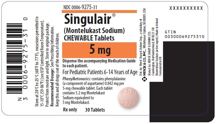 Singulair - FDA prescribing information side effects and uses