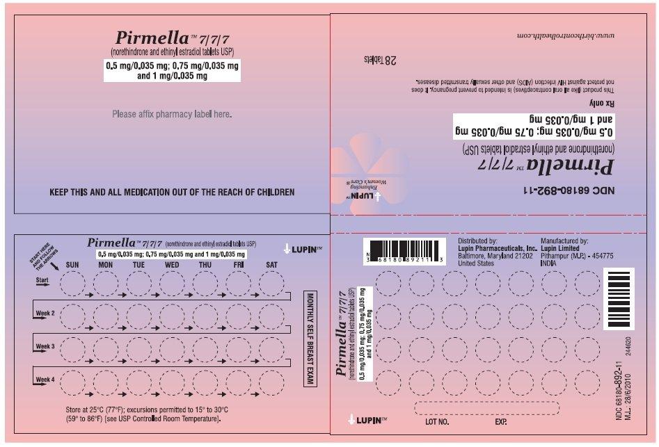 Pirmella 7/7/7 - FDA prescribing information side effects ...
