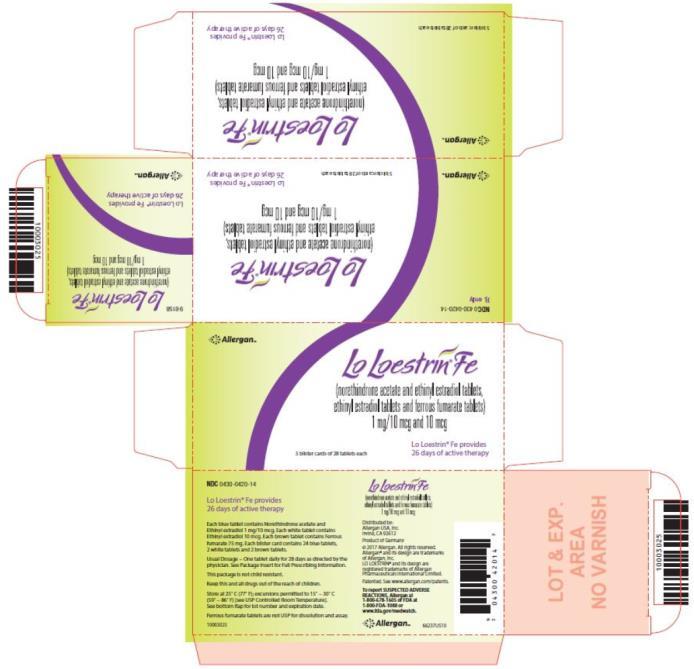 Loestrin 24 Fe - FDA prescribing information side effects ...