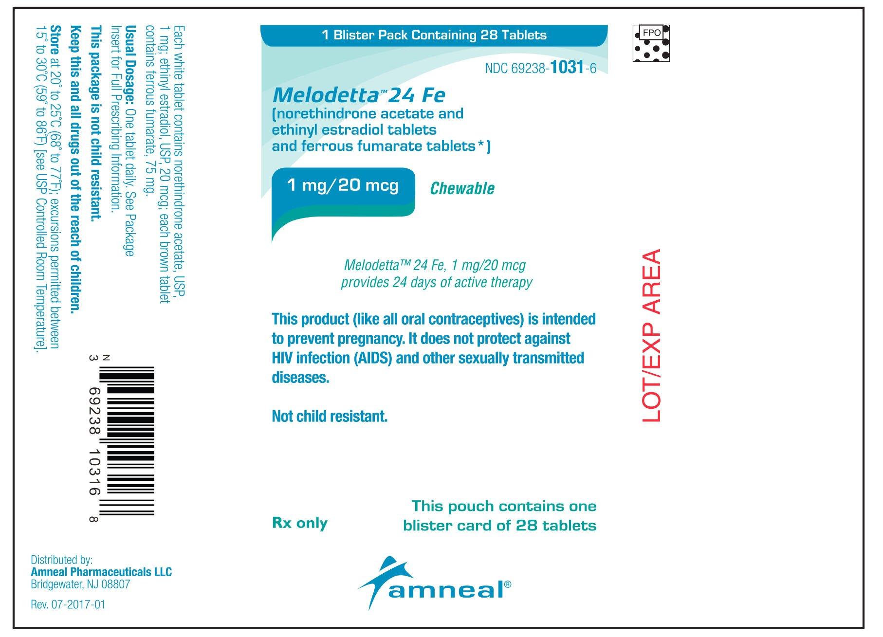 Melodetta 24 Fe - FDA prescribing information side ...