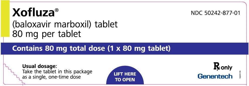 Xofluza - FDA prescribing information side effects and uses