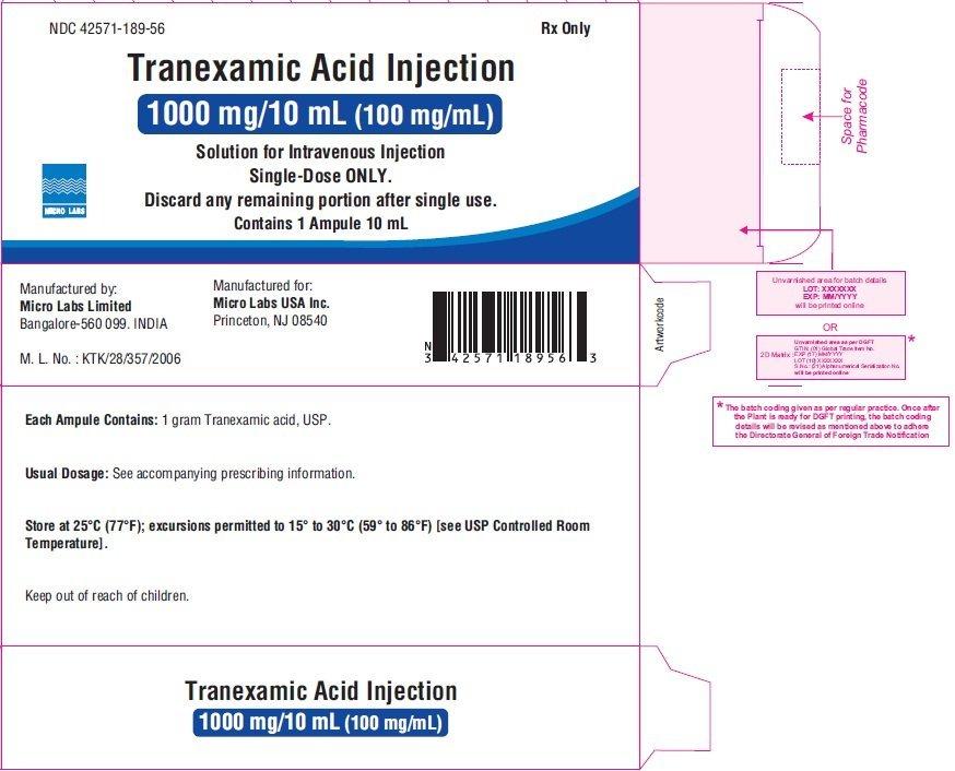 Tranexamic Acid Injection - FDA prescribing information ...