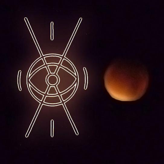 éclipse lunaire - Belenos et Belisama