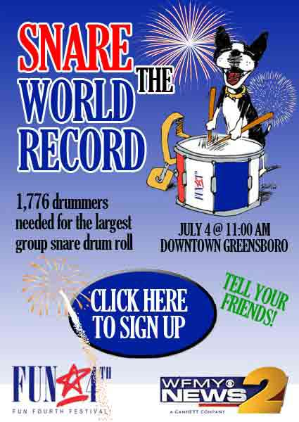 Snare Drum World Record