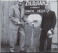 Gene with Avedis Zildjian.