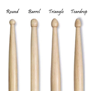drumsticks tip shapes